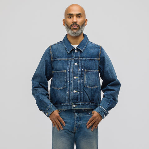 visvim SS Shorty Chore Jacket Dry Denim in Indigo - Notre