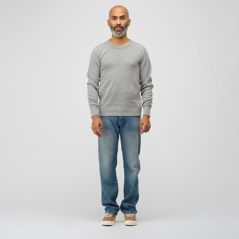visvim Sublig Thermal Crew 3-Pack in Grey - Notre