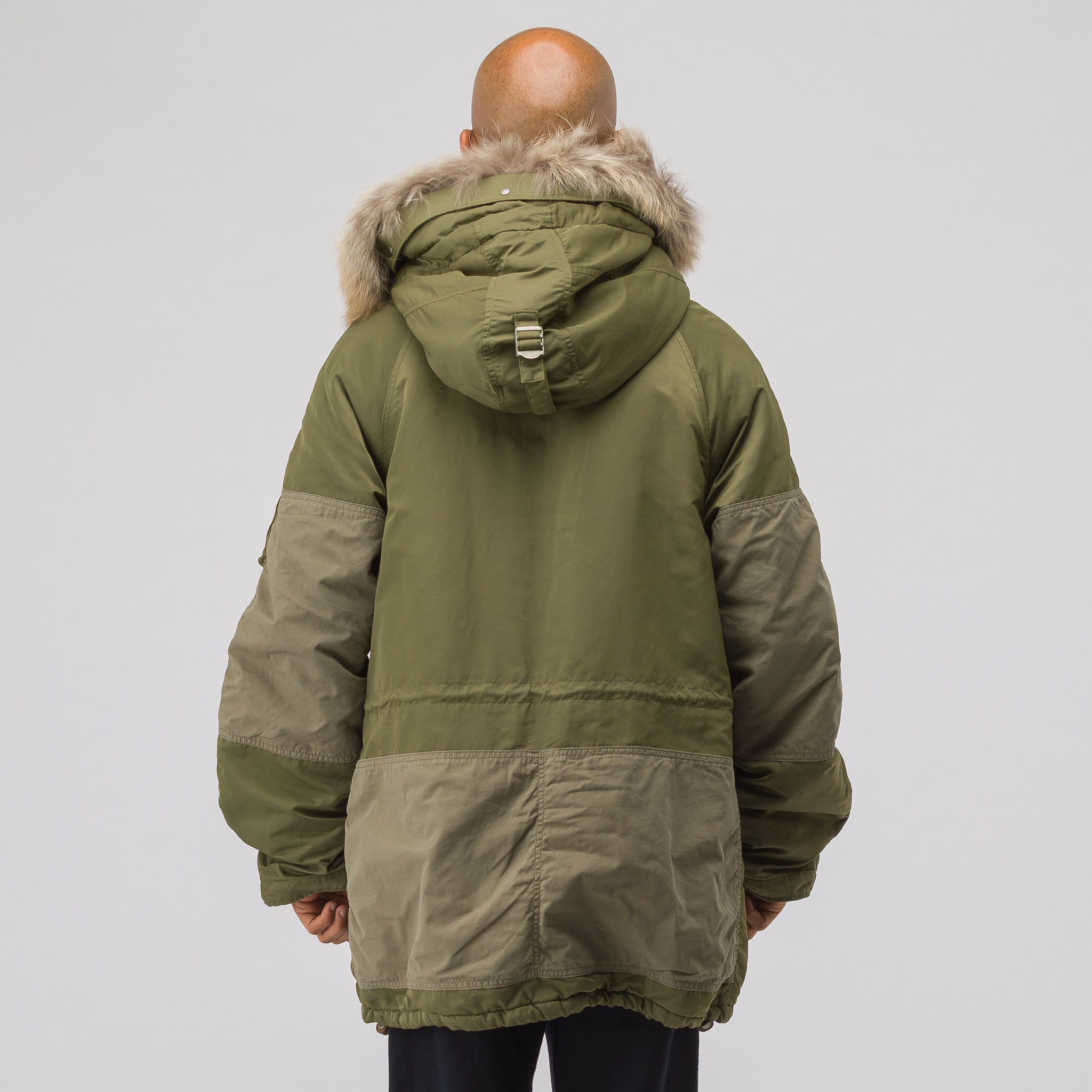 Valdez Wool Pile Coat in Olive