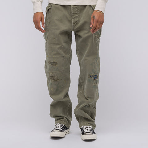 visvim Veterans Pants Crash in Olive Herringbone - Notre