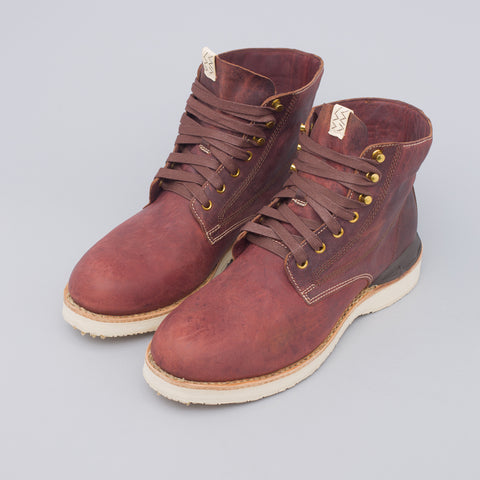 visvim Virgil Boots-Folk in Dark Brown Kangaroo - Notre