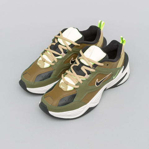 Nike Women's M2K Tekno in Medium Olive/Black - Notre