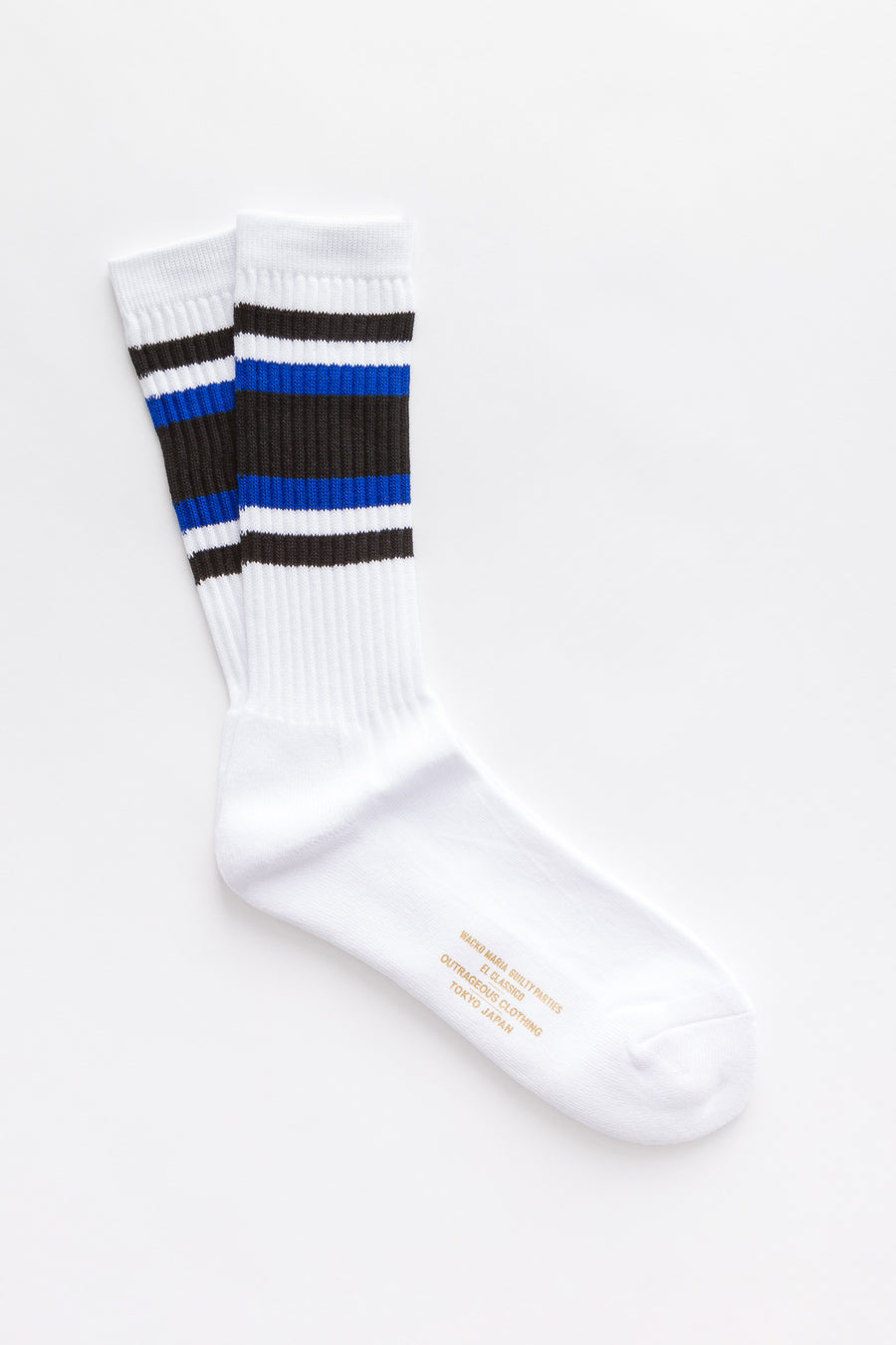 Wacko Maria Skater Socks (Type-1) in White-Blue - Notre