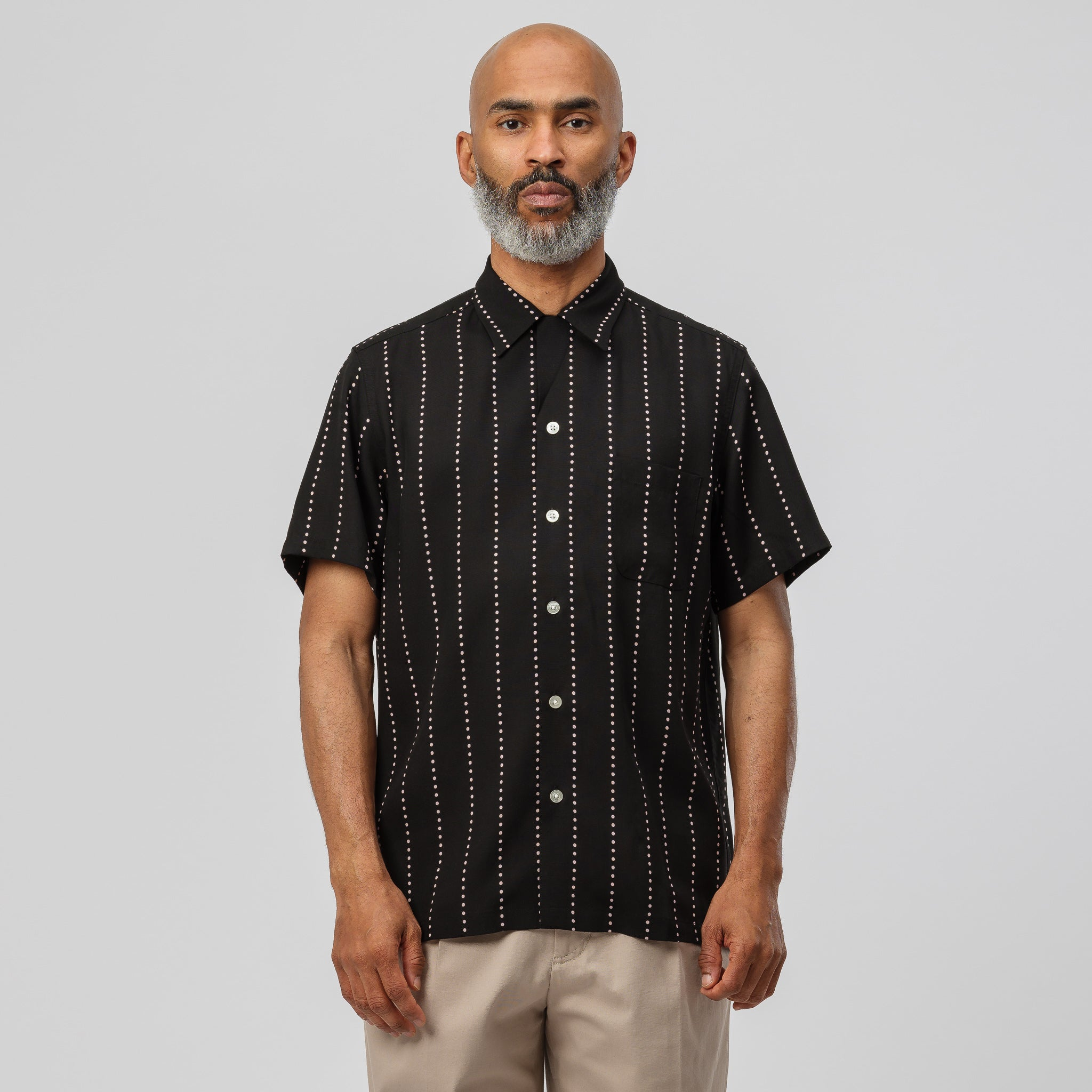 Hawaiian Shirt (Type-12) in Black