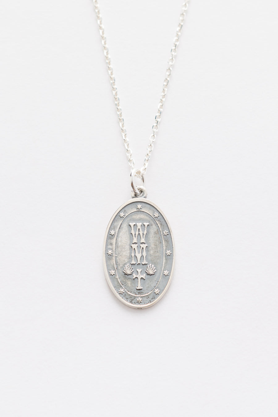 Wacko Maria Medal Necklace (Type-1) in Silver - Notre