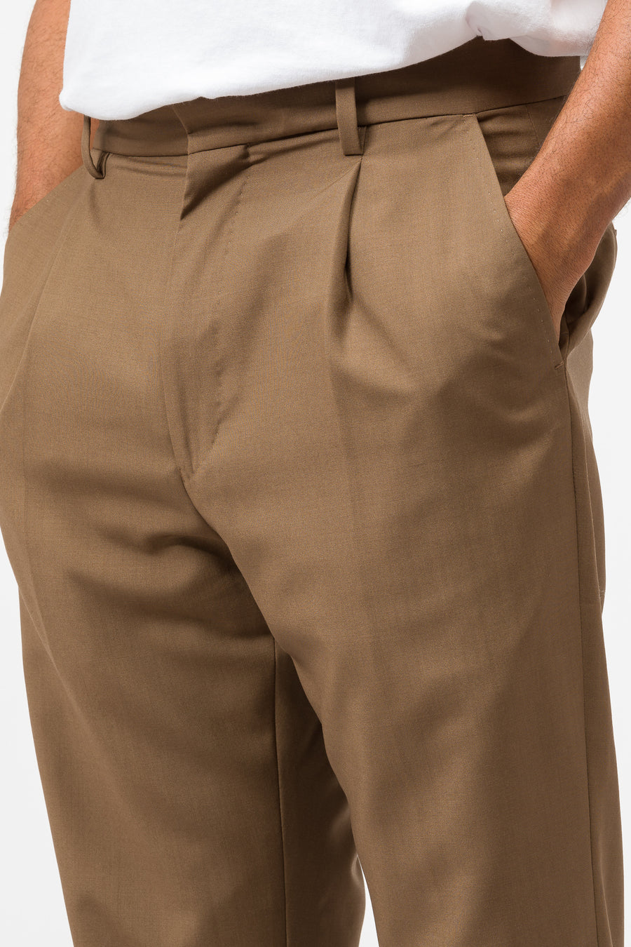 Wacko Maria Pleated Trousers (Type-1) in Brown - Notre