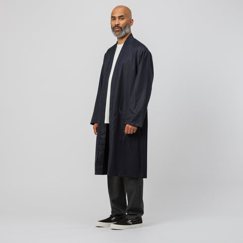 Wacko Maria Reversible Gown Coat in Navy/Black - Notre