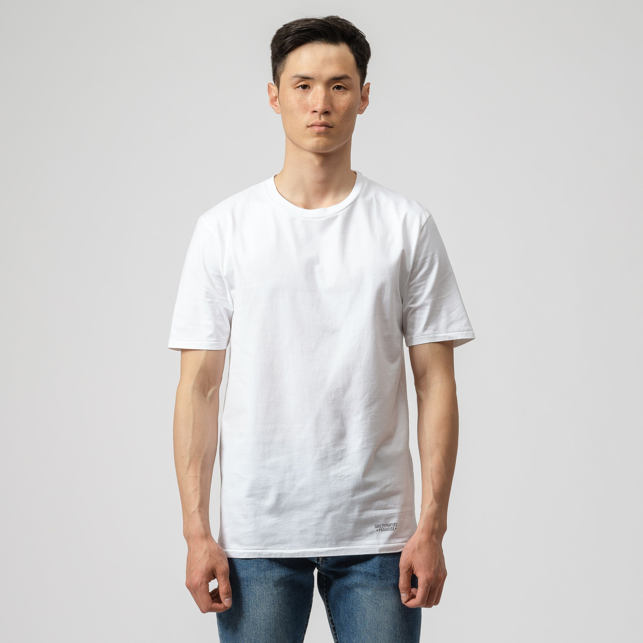 Superior 2 Pack Crew Neck T-Shirt in White