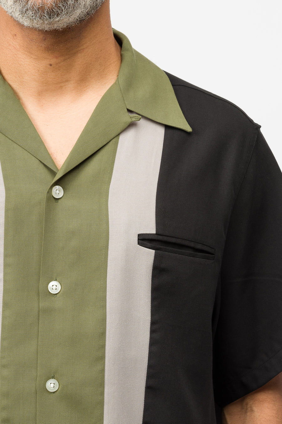 Wacko Maria Three-Tone 50's Shirt (Type-1) in Green - Notre