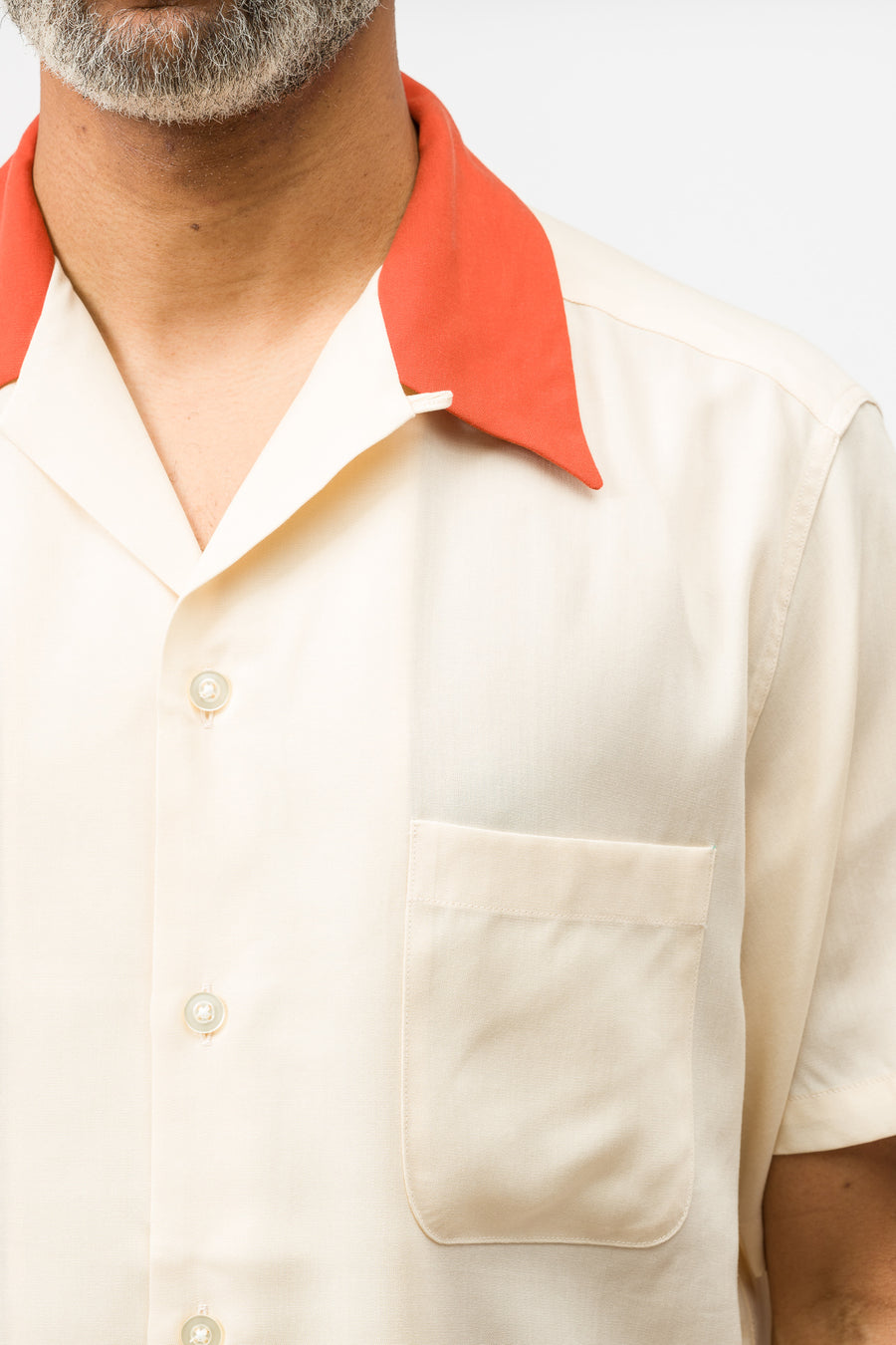 Wacko Maria Two-Tone 50's Shirt (Type-1) in Ivory - Notre