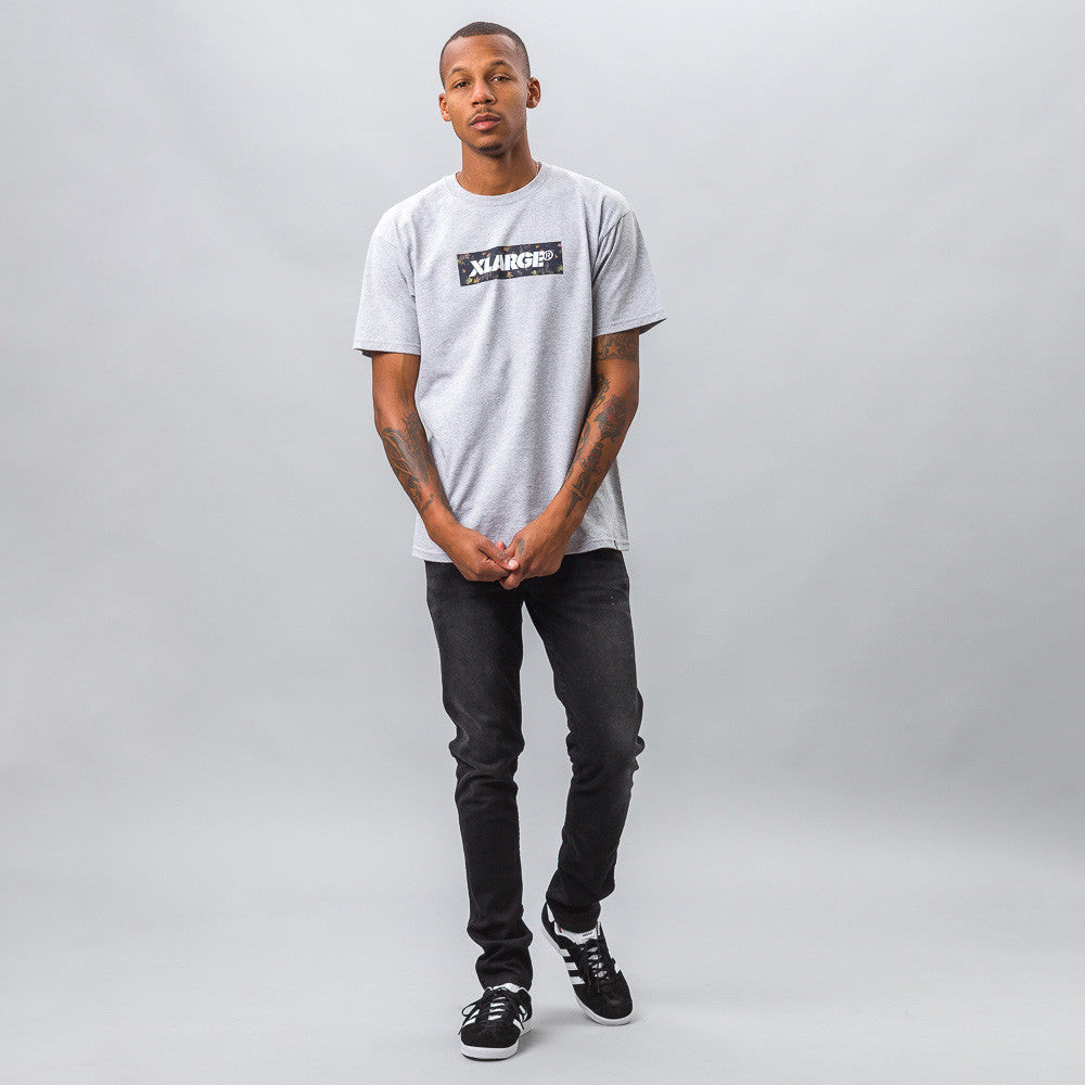 XLarge Forestry Stencil Tee in Grey Model Shot