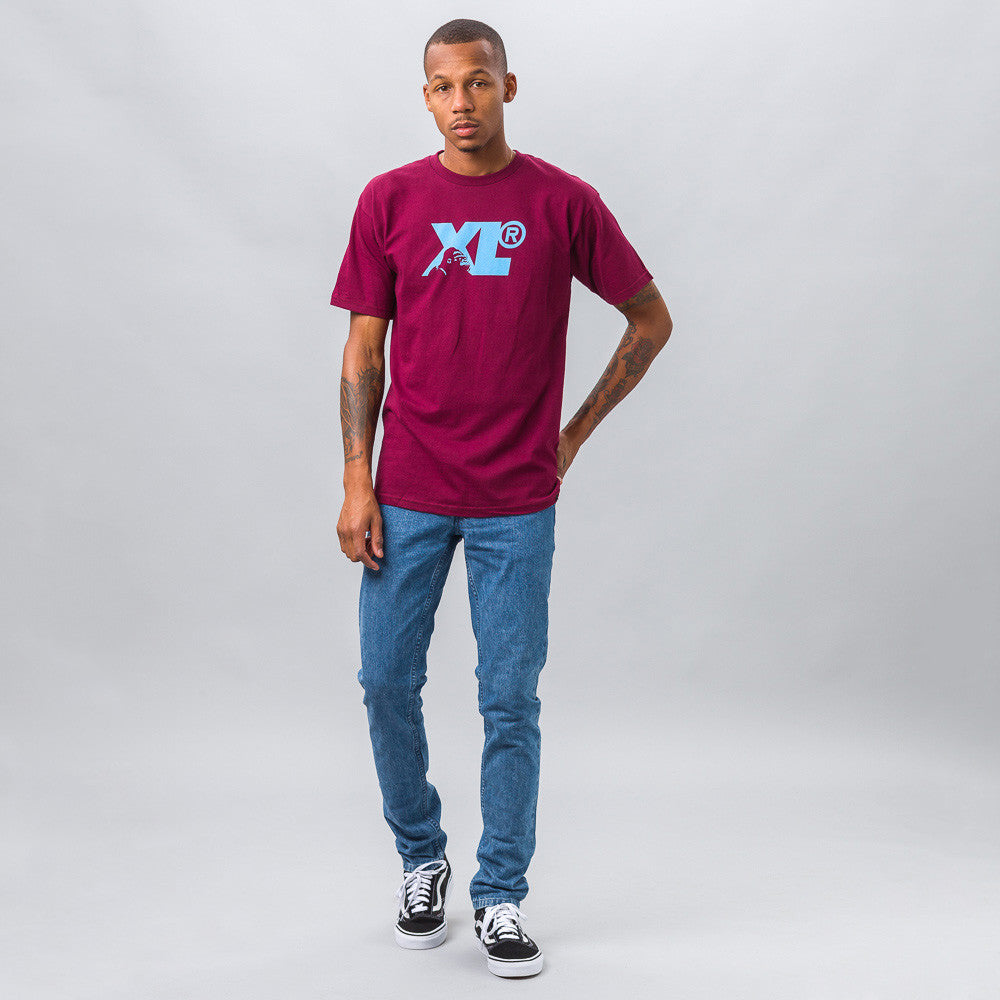 XLarge Gorilla Camo Tee in Burgundy Model Shot