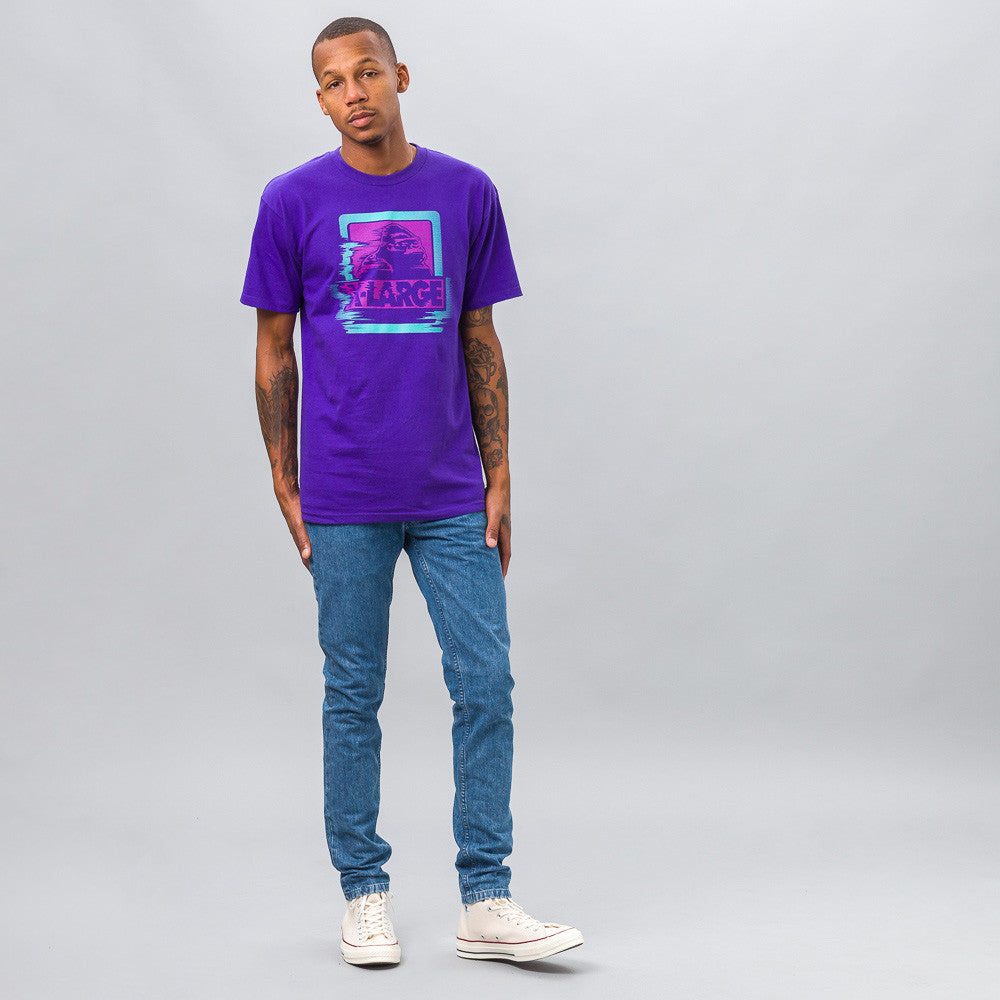 XLarge Warp Tee in Purple