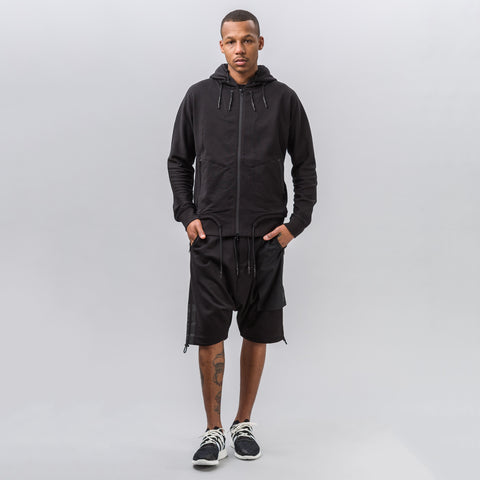 Y-3 FT Zip Hoodie in Black - Notre