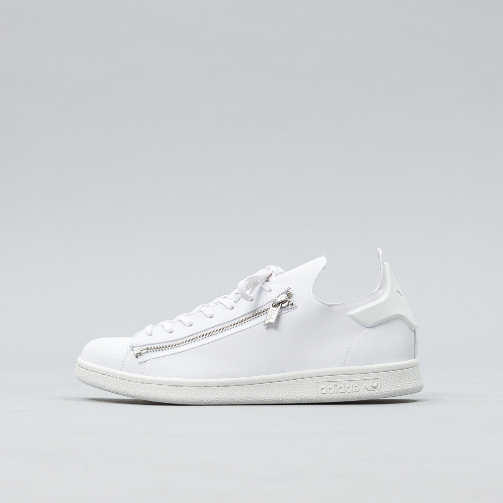 Y-3 Stan Zip Sneaker in White BB4797