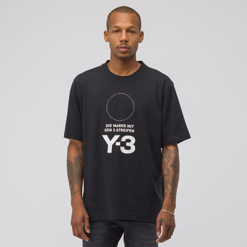 Y-3 Stacked Logo T-Shirt in Black - Notre