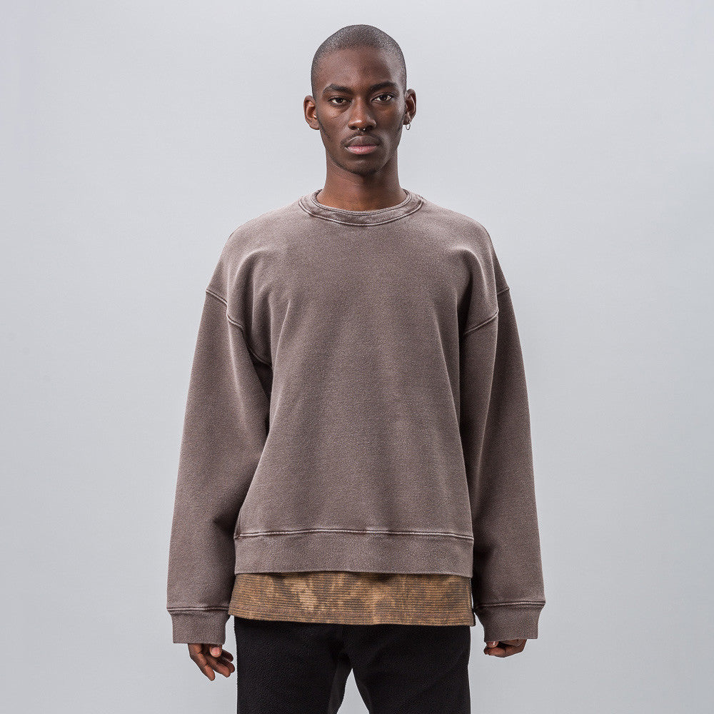 Yeezy Season Three - Crewneck with Rib in Onyx Earth - Notre - 1