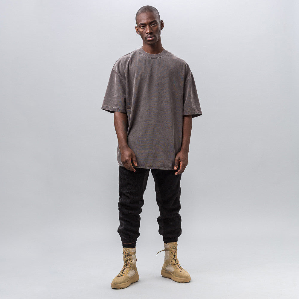 Yeezy Season Three - Heavy Knit Tee in Onyx Dark - Notre - 1