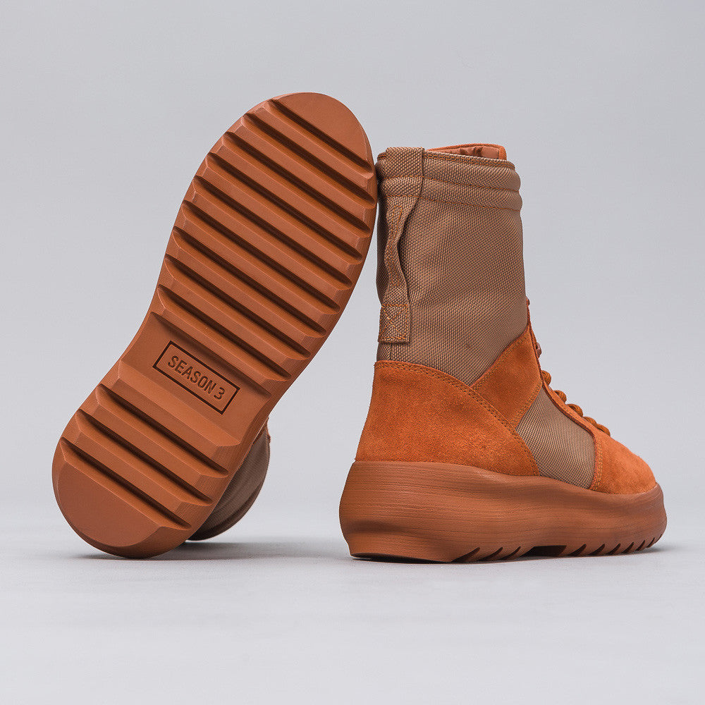 Yeezy Season Three - Men's Military Boot in Burnt Sienna - Notre - 1