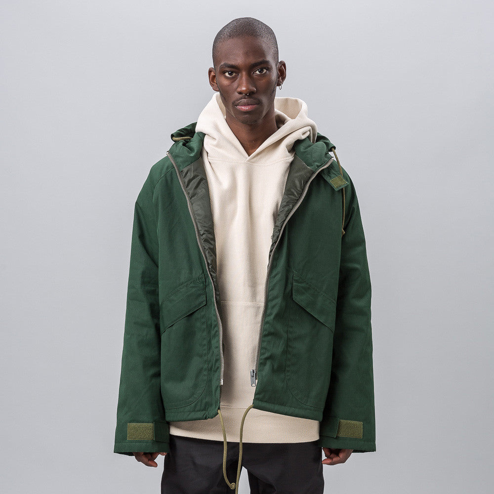 Yeezy Season Three - Waxed Anorak in Military Sea - Notre - 1