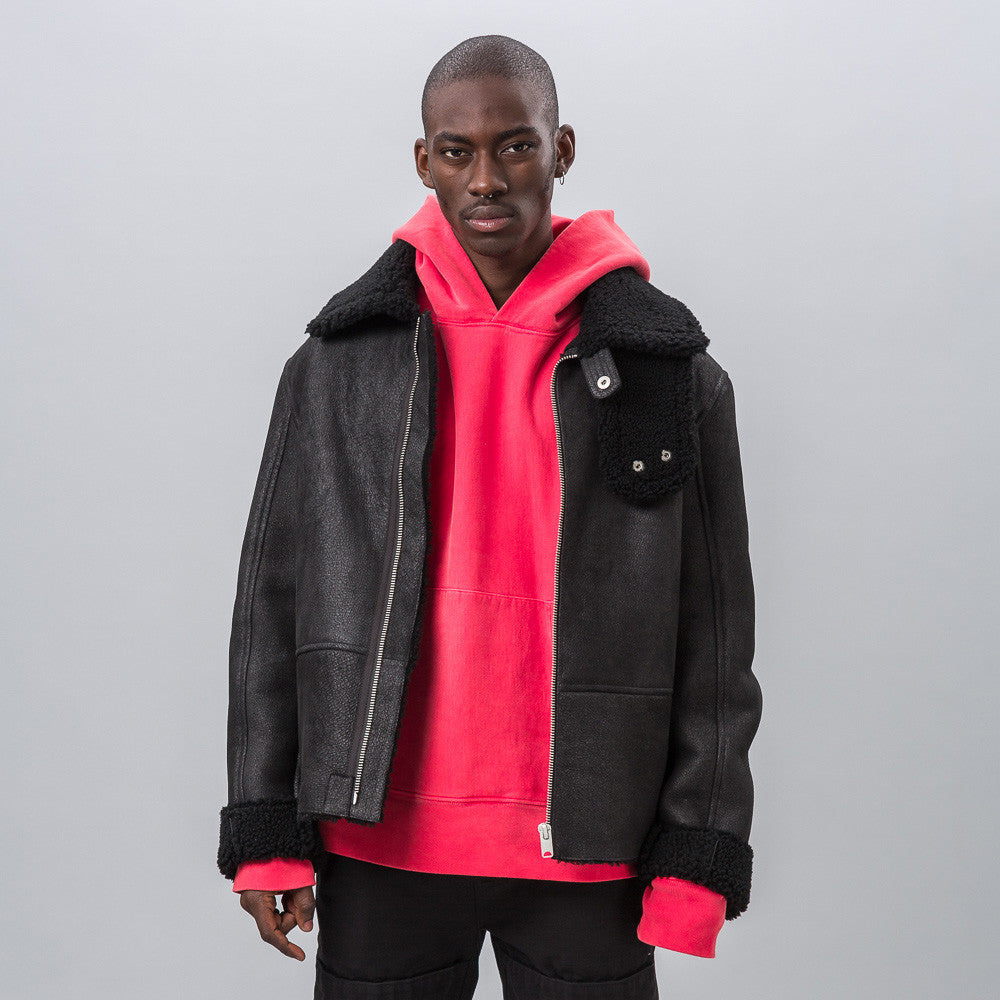 Yeezy Season Three - Shearling Flight Coat in True Onyx - Notre - 1
