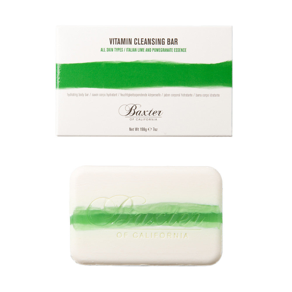 Baxter of California Vitamin Cleansing Bar - Italian Lime & Pomegranite
