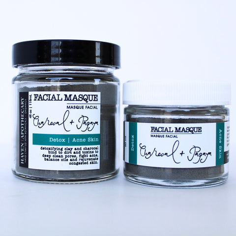 FACIAL MASQUE- Charcoal + Papaya - DETOX