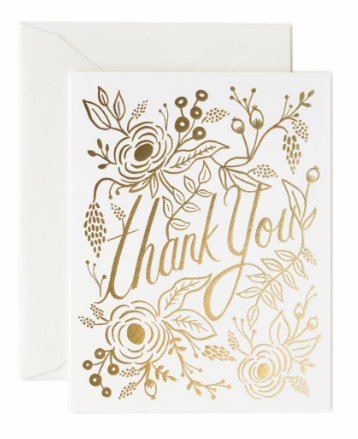 Gold Thank You - Rifle Paper Co.