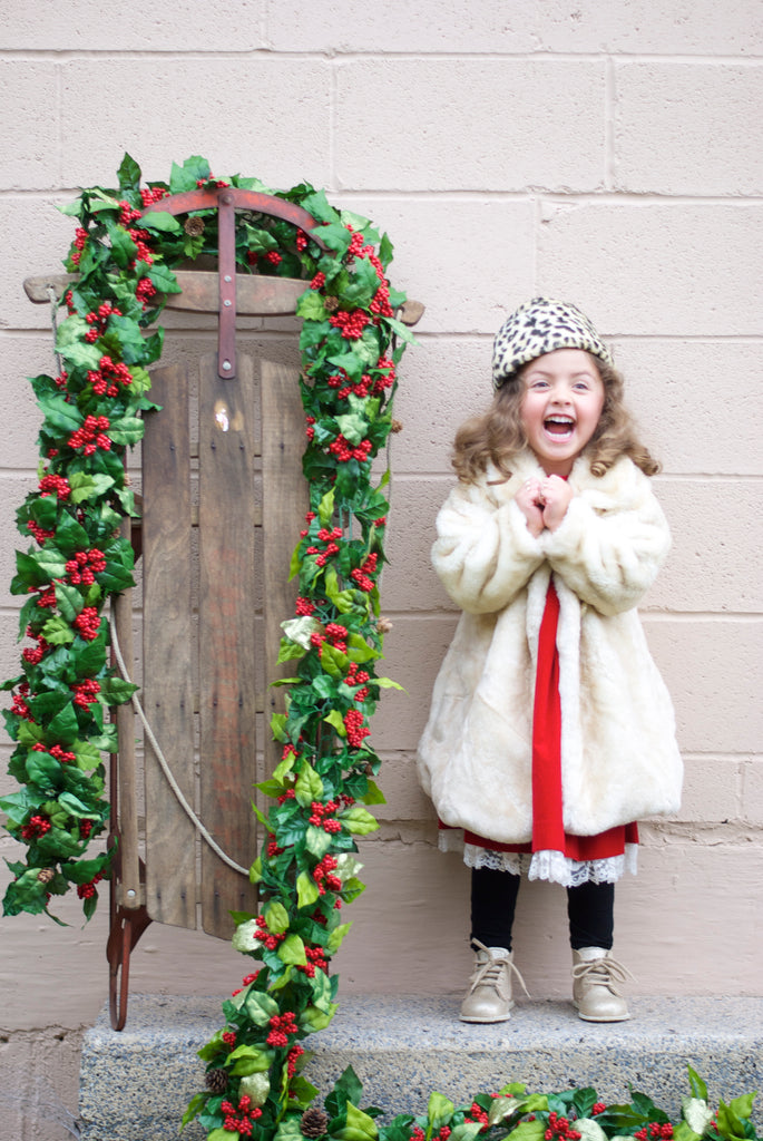vintage outfit for little girls holiday 2015