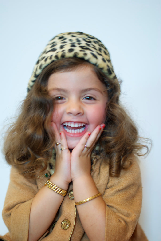 vintage style little girl with jewelry