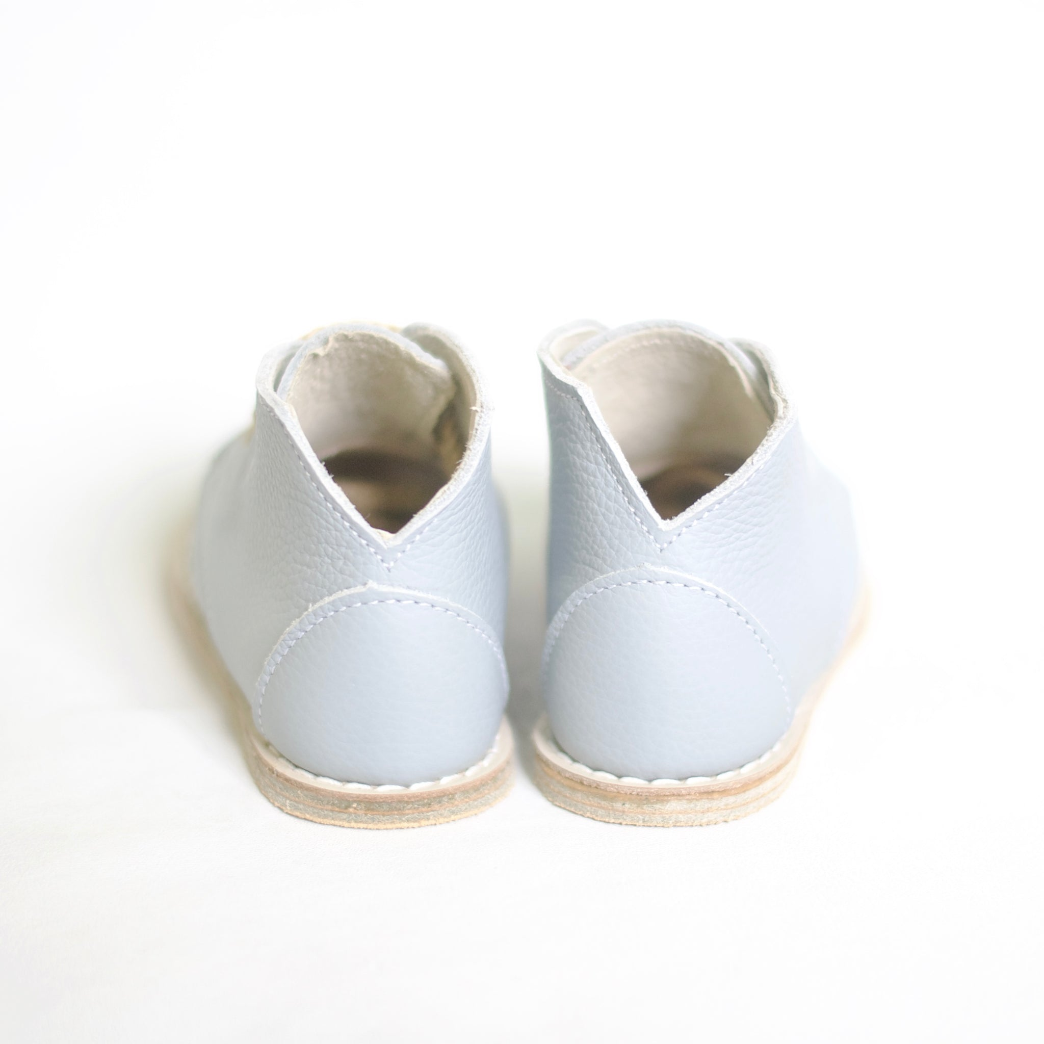 pale blue boot, top grain leather