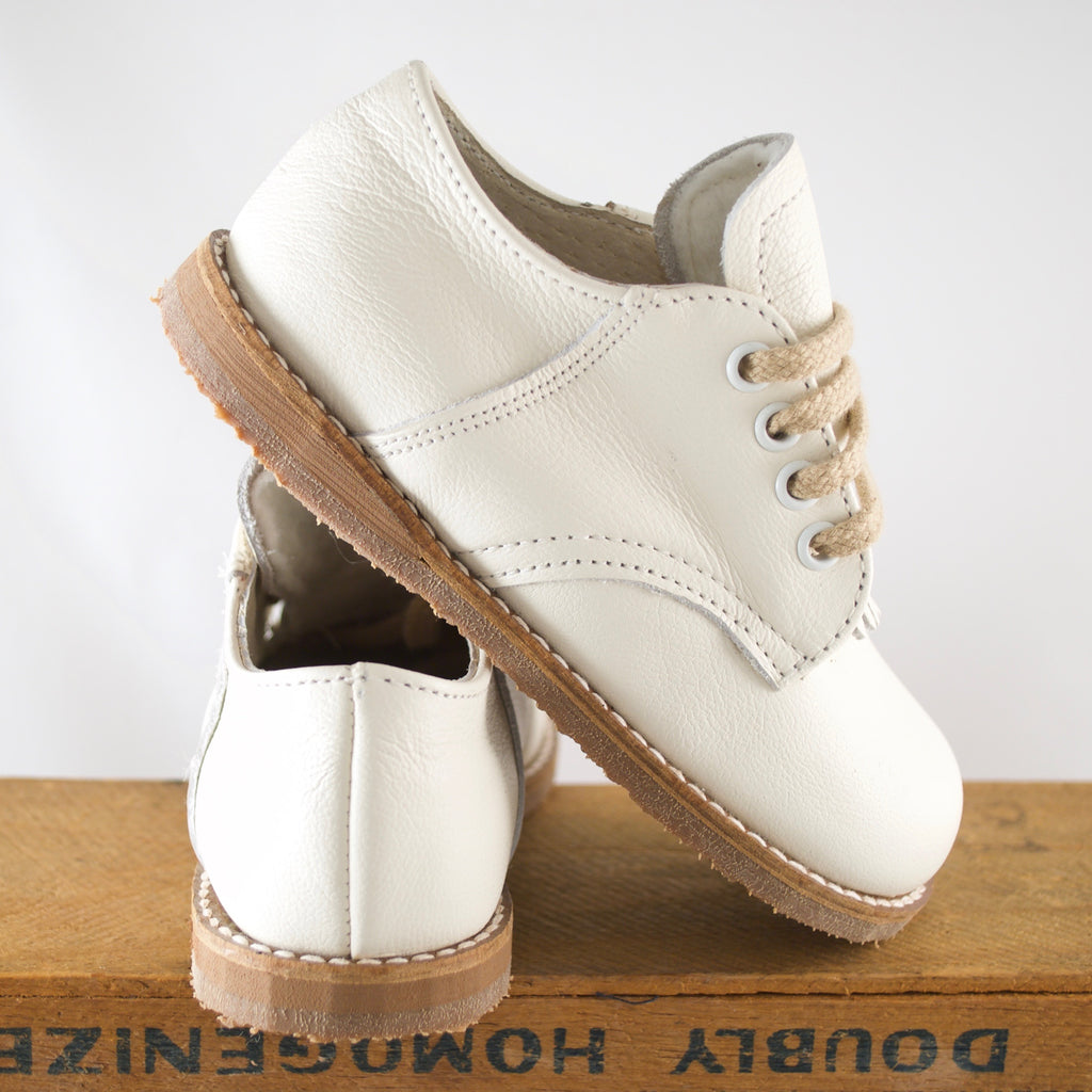 custom made artie saddle shoe in ivory