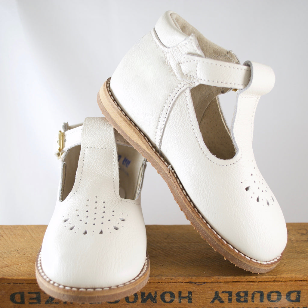 Greta T-Strap in Ivory | Sizes 2-7
