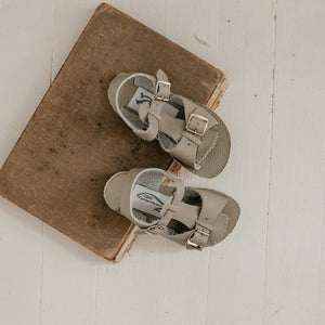 Stevie Sandal in Dove Grey (w/ Removable Fringe) | Sample Sale