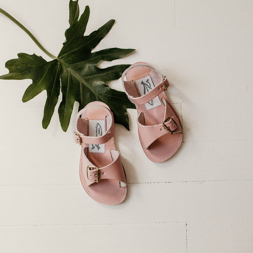 Stevie Sandal in Blush Pink (w/ Removable Fringe) | 2 (Infant) - 2 (Youth)