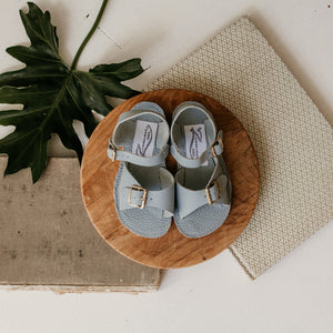 Stevie Sandal in Pale Blue (w/ Removable Fringe) | Sample Sale