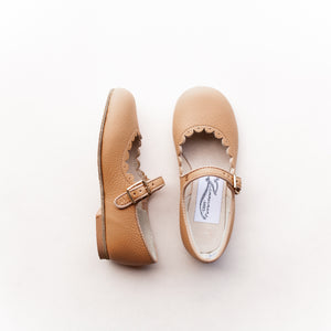 Scalloped Mary Jane in Camel | Sizes 4-12