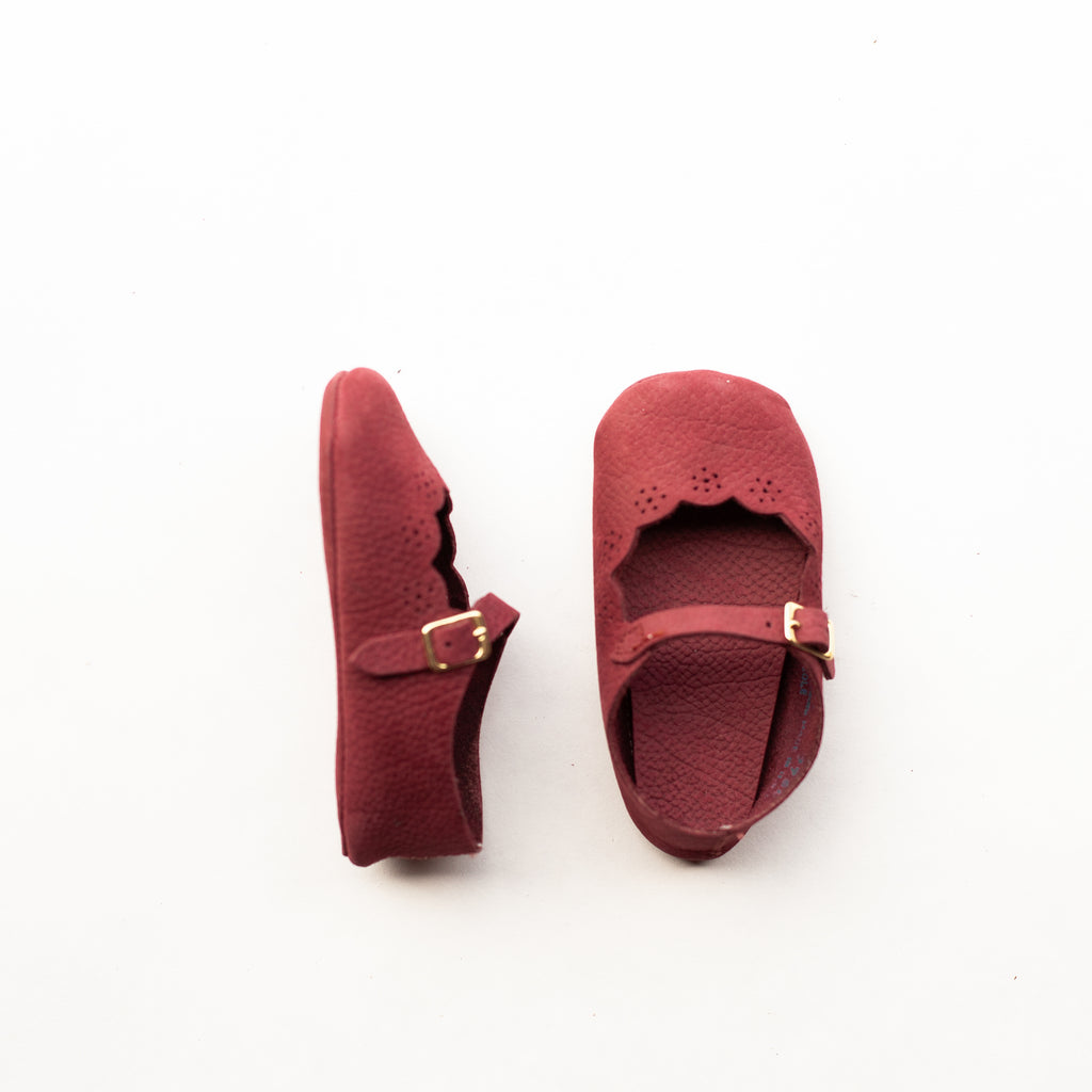 Soft Soled Strap in Burgundy | Sample Sale