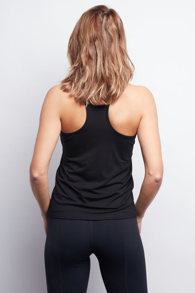 LOTUS Black Racerback Tank - Haven Collective
