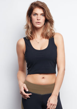 Black Contour Crop Top - Haven Collective