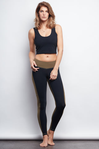 Black/Olive Two-Tone Legging