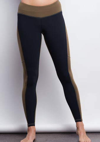 Army/Black Two-Tone Legging - Haven Collective