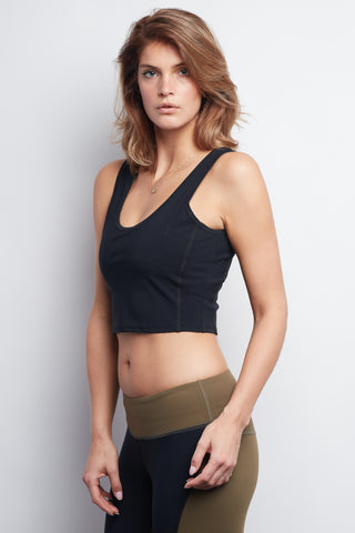 Black Contour Crop Top