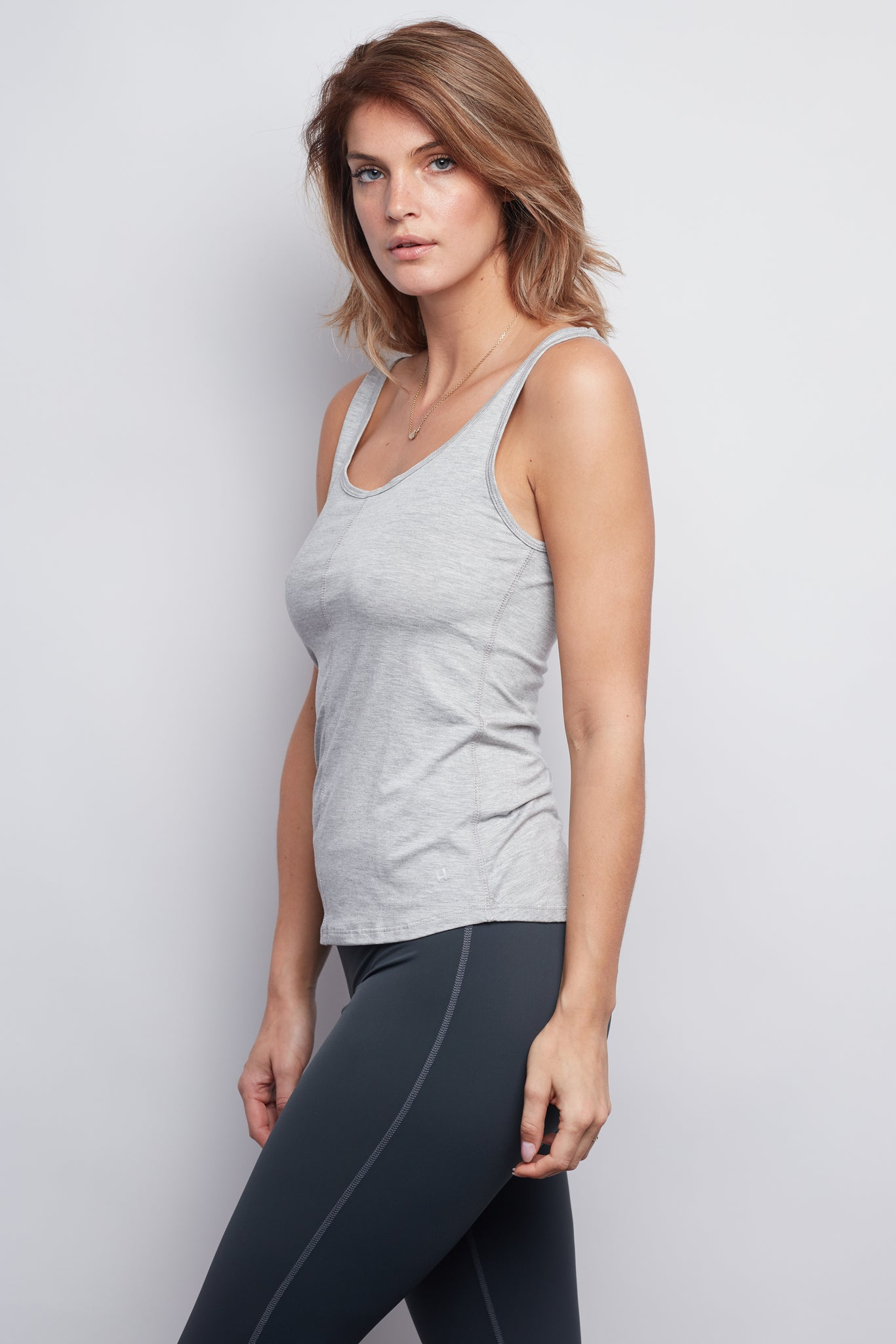 Heather Grey Essential Tank - Haven Collective