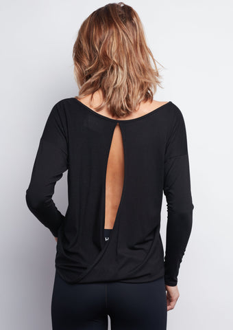Black Chloe Open-Back