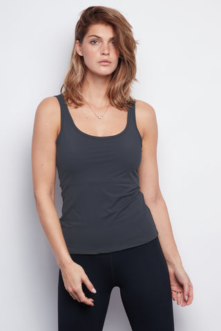 Grey Sculpt Tank - Haven Collective