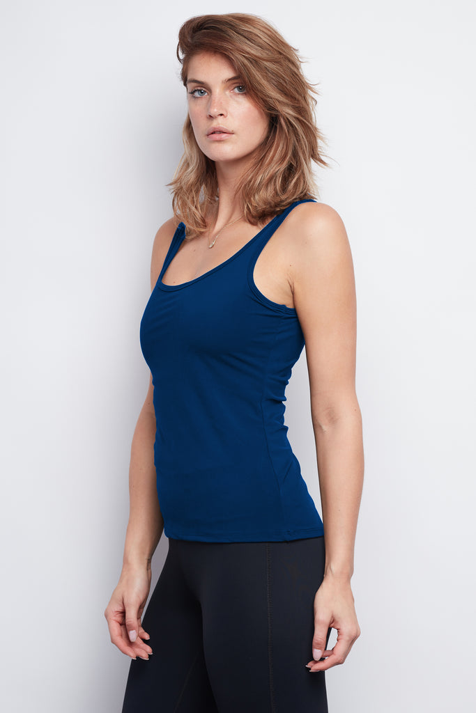Navy Sculpt Tank - Haven Collective