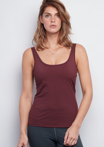 Burgundy Sculpt Tank - Haven Collective