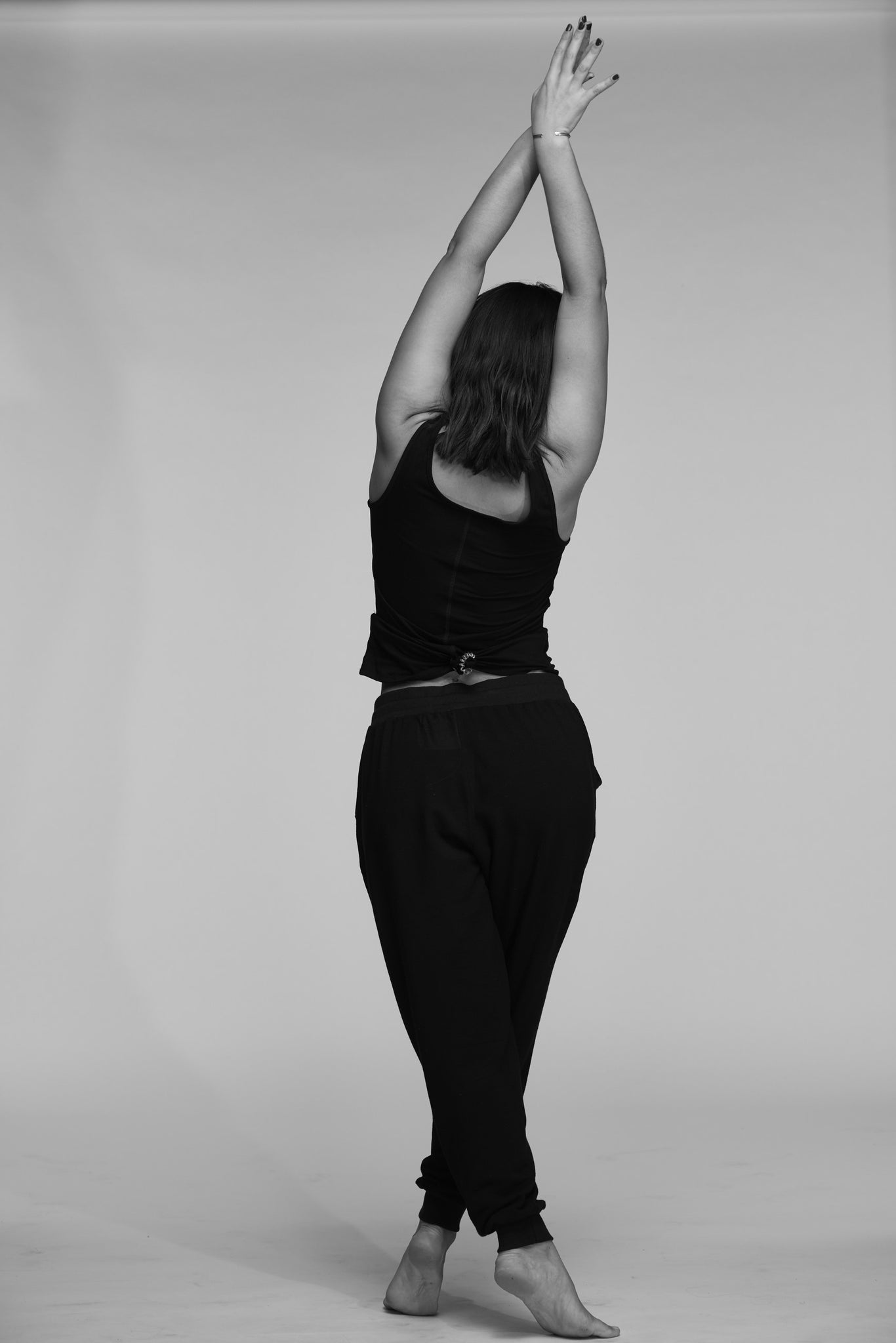 YOGA SWEATPANTS BLACK ON BLACK - Haven Collective