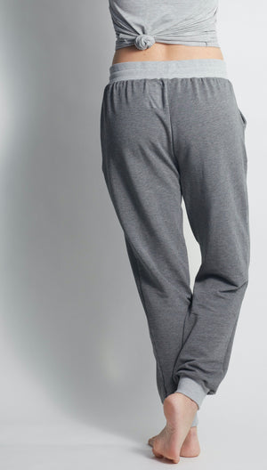 YOGA SWEATPANTS HEATHER GREY - Haven Collective